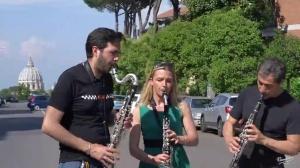 Alessandro Carbonare Clarinet Trio -  Gershwin - 3rd Prelude -