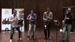 The Barcelona Clarinet Players play  'Peix semblant a un verat' by Jesús Santandreu'